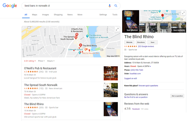 Google My Business Example